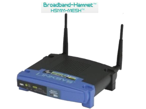 Broadband-Hamnet and Lynksys wrt54g
